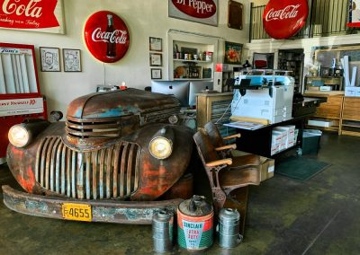 Xpresso Print Cafe front room with old truck front